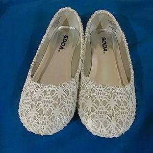 SCOLY IIS GOLD/CREAM GIRL SHOES
